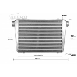 Intercooler 600x450x100mm - 76mm - Competition 2015