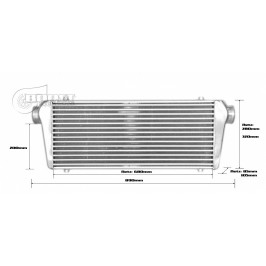 Intercooler 700x300x100mm - 76mm - Competition 2015